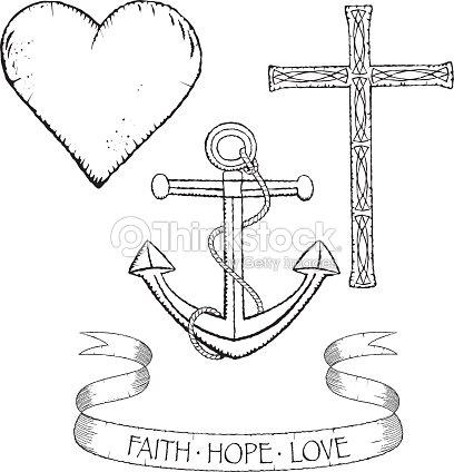Symbols For Faith Hope And Love Vector Art Thinkstock