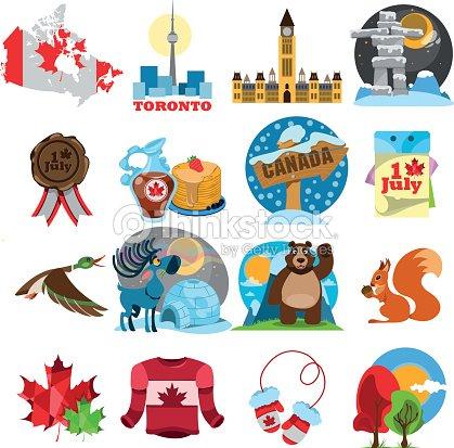 Symbols Of Canada Set Vector Art Thinkstock