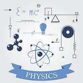symbols of physics. vector elements for design. eps8