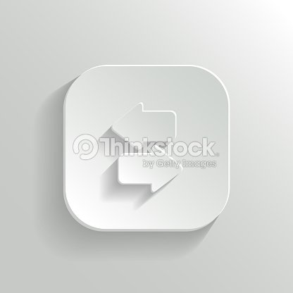 Synchronization Icon With Arrows Vector White App Button
