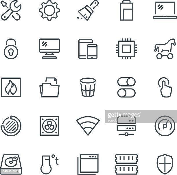 Icone di manutenzione del sistema