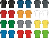 design vector t shirt template collection front back for men