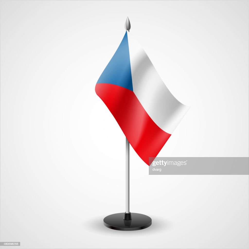 Table flag of Czech Republic : Vector Art