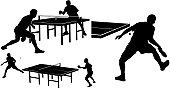 . sport - players playing table tennis