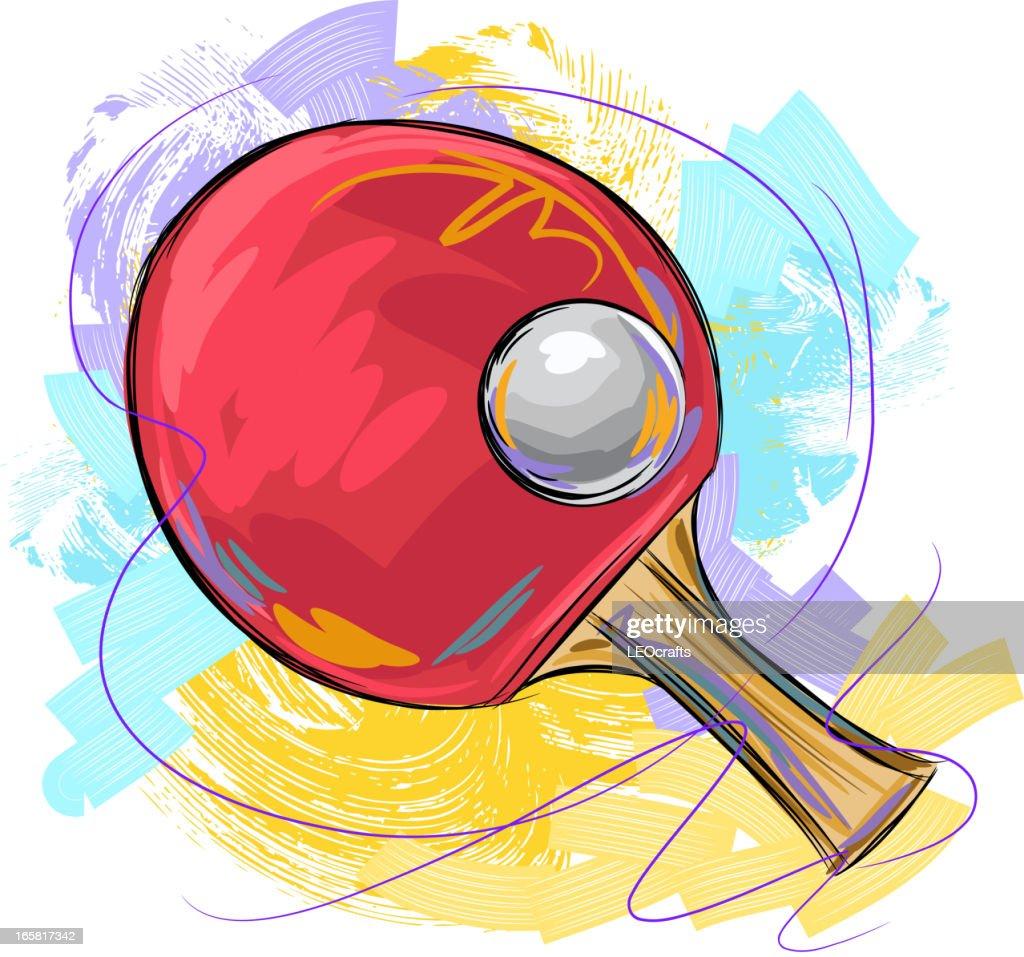 Tennis de table clipart vectoriel getty images - Dessin tennis de table ...