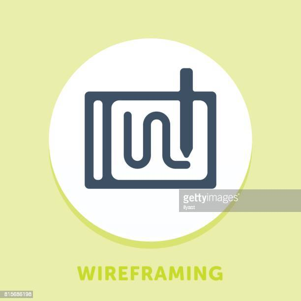 Tablet And Pen Curve Icon