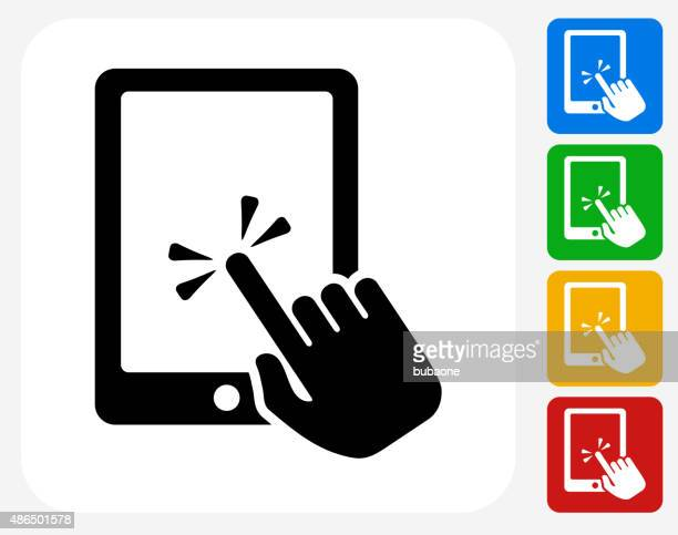 Tablet Icon Flat Graphic Design