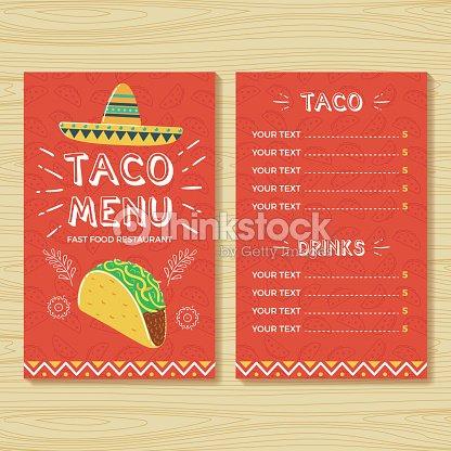 taco menu template vector art thinkstock