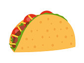Taco vector illustration in flat style