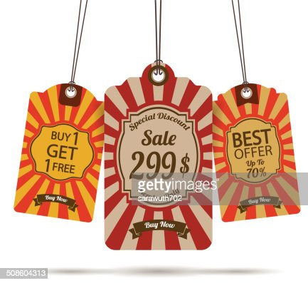 Etiqueta de venda : Arte vetorial