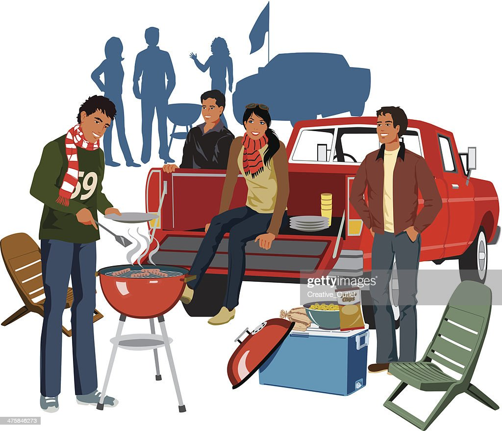 tailgate party c vector art thinkstock rh thinkstockphotos in football tailgate clipart clipart tailgate pictures