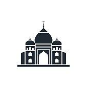 taj mahal, india landmark icon