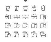 Take Out UI Pixel Perfect Well-crafted Vector Thin Line Icons 48x48 Ready for 24x24 Grid for Web Graphics and Apps with Editable Stroke. Simple Minimal Pictogram Part 3-3