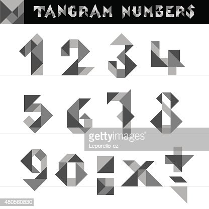 Tangram Numbers Vector : Vector Art