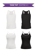 Tank top collection isolated on white background, vector eps10 illustration