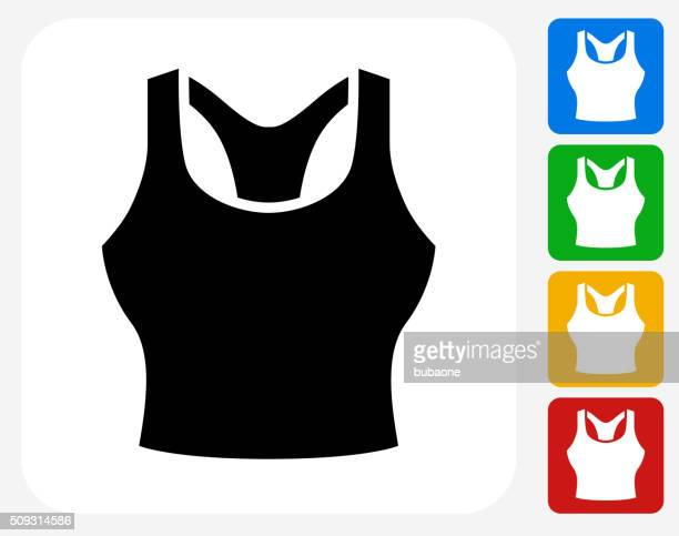 Tank Top Icon Flat Graphic Design