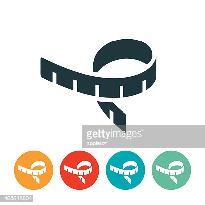 tape measure icon vector art getty images