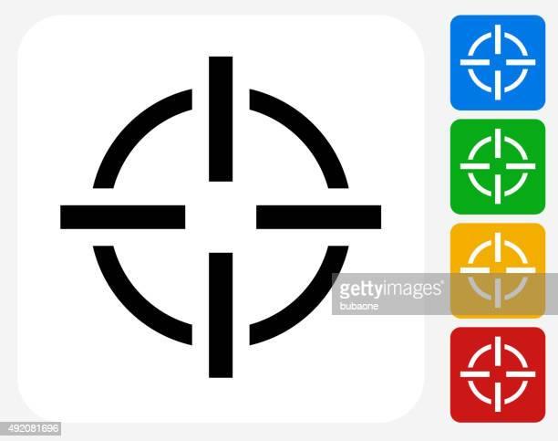 Objetivo objetivo de iconos planos de diseño gráfico
