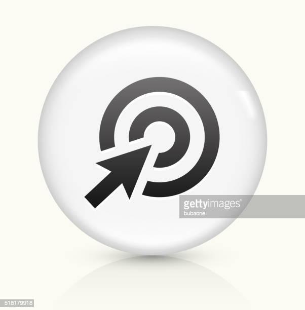 Target Cursor icon on white round vector button