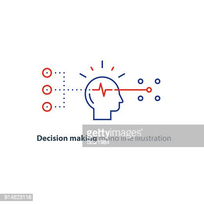 Target group, decision making, bias concept, choose options, creative thinking : stock vector