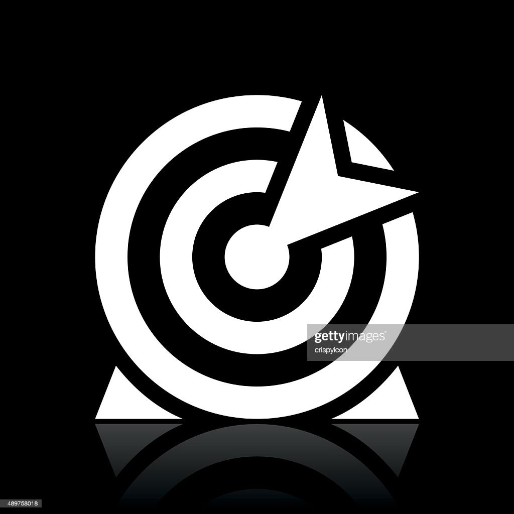 target logo vector black and white. target icon on a black background white series vector art logo and