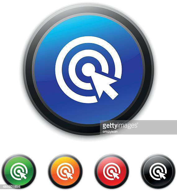 Target icon on round buttons.