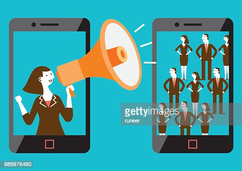 Targeted Mobile Marketing (Mixed-sex) | New Business Concept : Vector Art