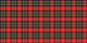 Tartan Scottish Seamless pattern illustration
