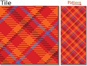 Textile fabric swatch with plaid fashion design of modern and old fashioned mix combination a little twill touch ,ornamental wrapping paper seamless vector pattern.British clothing pattern it is also