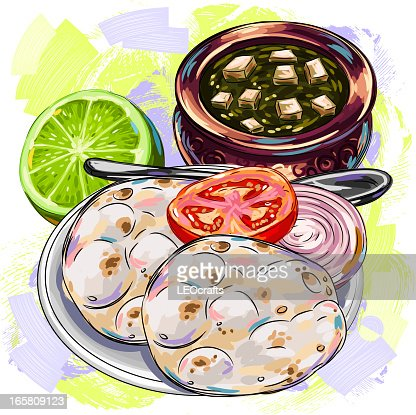 Tasty indian cuisinebraed vector art getty images for Art of indian cuisine