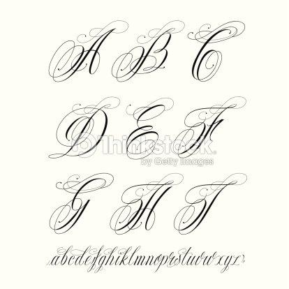 Tattoo alphabet vector art thinkstock tattoo alphabet vector art thecheapjerseys Image collections