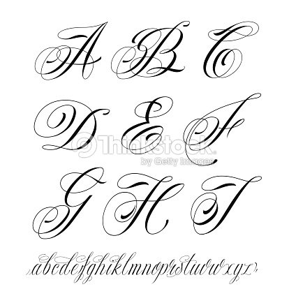 alphabet de style tatouage clipart vectoriel thinkstock. Black Bedroom Furniture Sets. Home Design Ideas