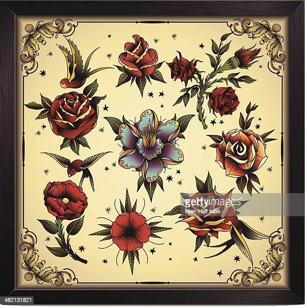 Tatuaje estilo flores