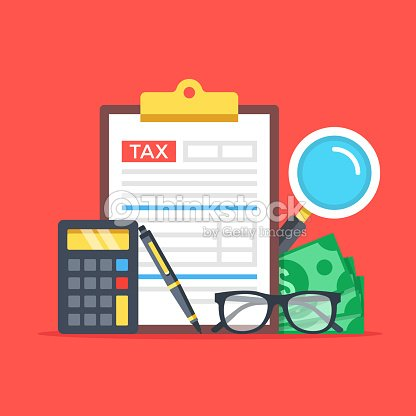 tax accounting expenses budget calculation clipboard tax form