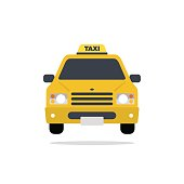 Taxi car vector flat style color abstract illustration