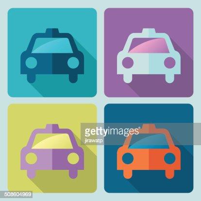 Taxi ícone de : Arte vetorial