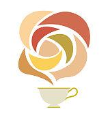 Tea cup and aroma image