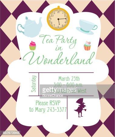 Tea Party Invitation Vector Art Thinkstock