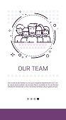 Team People Work Group Management Business Leadership Banner Vector Illustration