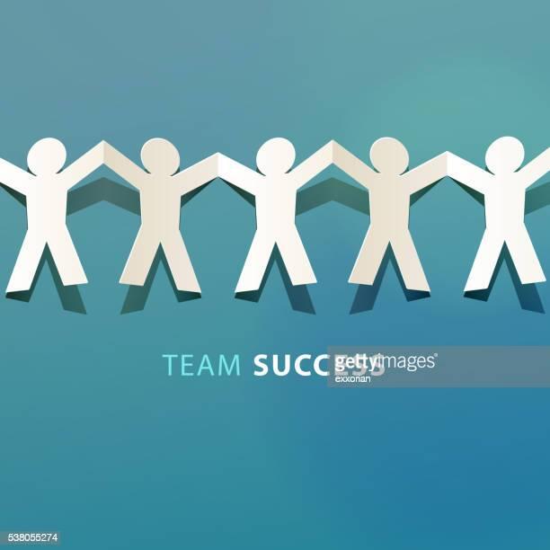 Team Success Concept Paper Cut