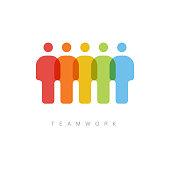 Vector teamwork concept illustration