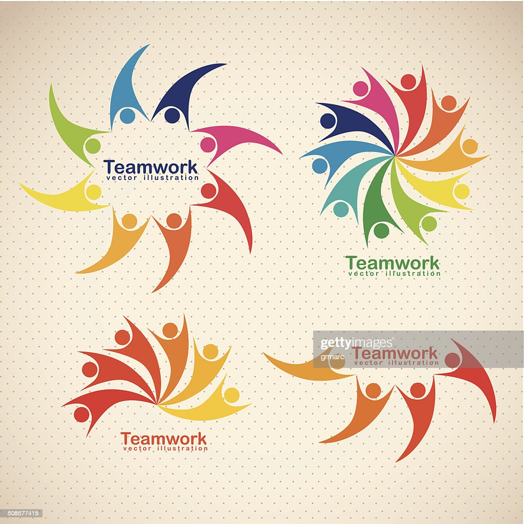 teamwork icons : Vector Art