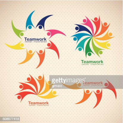 teamwork icons : Vectorkunst