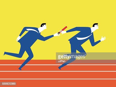 Teamwork of sport : Vector Art