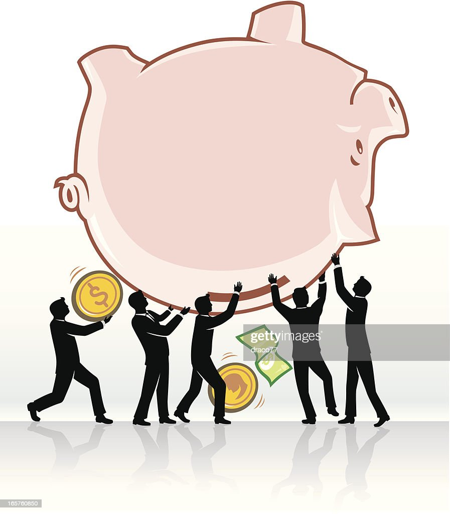 Teamwork Savings Withdrawal Vector Art | Getty Images