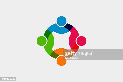 Teamwork Social Network icon. Vector Graphic Illustration : Vector Art