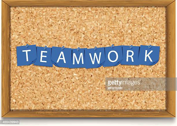 Teamwork | Sticky Notes on Corkboard