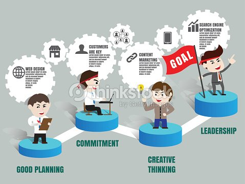 Teamwork To Successful Business Template Vector Art | Thinkstock
