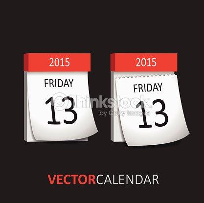 Calendario A Strappo.Calendario A Strappo A Venerdi 13 Arte Vettoriale Thinkstock