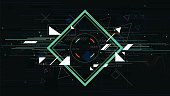 Tech futuristic abstract backgrounds, colorful square vector illustration